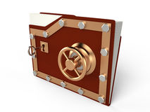 Folder and lock, 3D Stock Photos
