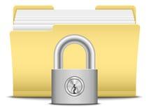 Folder and lock Stock Photo