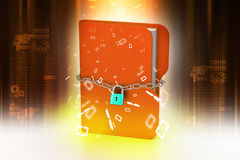 Folder locked by chains Stock Image