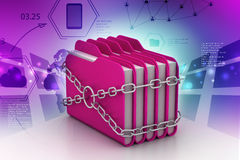 Folder locked by chains Royalty Free Stock Photo