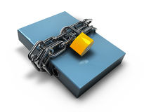 Folder locked by chains isolated over white. Royalty Free Stock Images