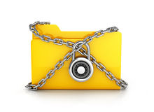 Folder locked with chains Royalty Free Stock Image