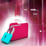 Folder locked Royalty Free Stock Image