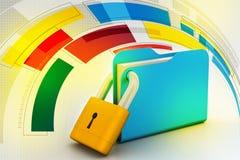 Folder locked Stock Images