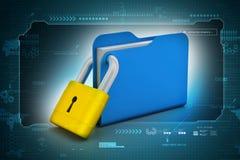 Folder locked Stock Image