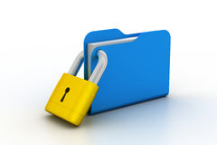 Folder locked Royalty Free Stock Images