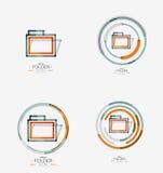 Folder logo, stamp. Accounting binder Royalty Free Stock Photos