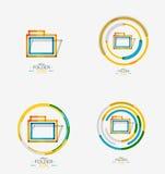 Folder logo, stamp. Accounting binder Stock Photos