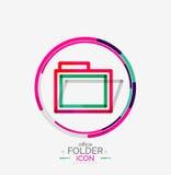 Folder logo, stamp. Accounting binder Stock Image