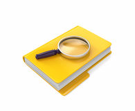 Folder with magnifying glass royalty free illustration
