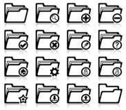 Folder management and administration icons. Set of folder management and administration icons Royalty Free Stock Photo