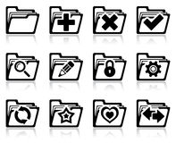 Folder management icons. Vector illustration of interface folder management and administration icons Royalty Free Stock Images