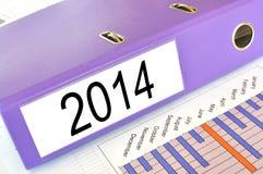 2014 folder. On a market report Stock Photos