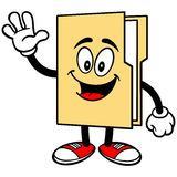 Folder Mascot Waving Royalty Free Stock Images