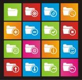 Folder metro style icons Stock Image