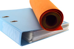 Folder and nonwoven rolls. Royalty Free Stock Image