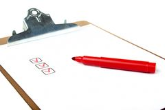 Folder of noted planning. Paper holder with picture of noted planning Royalty Free Stock Photography