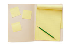 Folder with Notepad Royalty Free Stock Photos