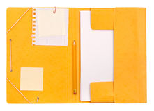Folder with notepaper Royalty Free Stock Photo