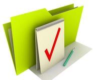 Folder Notice. Illustration in 3D-look of a Memo Folder Stock Image