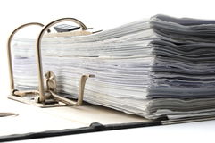 Folder in an office Royalty Free Stock Images