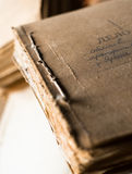 The folder with old paper documents in the archive Stock Image