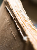The folder with old paper documents in the archive Royalty Free Stock Photos