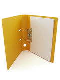 Folder open and blank paper Stock Photography