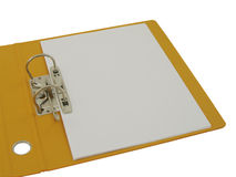 Folder open and blank paper Royalty Free Stock Images