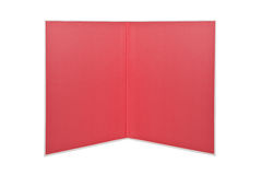 Folder open red book isolated. On white background Royalty Free Stock Image