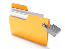 Folder with padlock Stock Photography