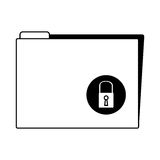 Folder with padlock icon. Vector illustration design Stock Photos