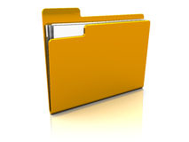 Folder with paper Royalty Free Stock Photography