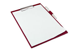 Folder with paper Stock Image