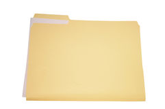 Folder and paper Royalty Free Stock Photography