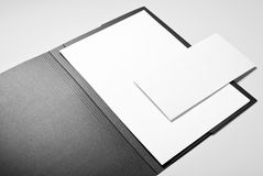 Folder, paper and envelope Royalty Free Stock Images