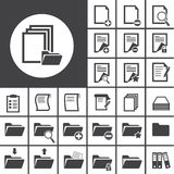 Folder and paper icon Stock Photo
