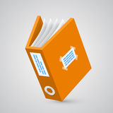 Folder paper orange Stock Images