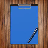 Folder with paper and pen, business concept. High resolution Royalty Free Stock Photo