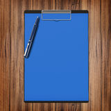 Folder with paper and pen, business concept. High resolution Royalty Free Stock Photography