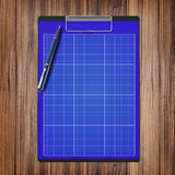 Folder with paper and pen, business concept Royalty Free Stock Images