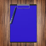 Folder with paper and pen, business concept Stock Photo