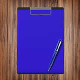Folder with paper and pen, business concept Stock Photos
