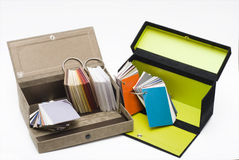 Folder of papers in a box Royalty Free Stock Image