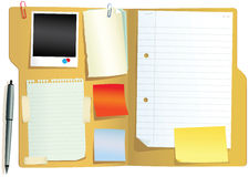 Folder with papers Stock Image