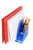 Folder and Pencils Royalty Free Stock Images