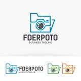Folder Photo logo Royalty Free Stock Photo