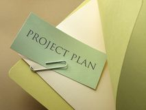 Folder with a project plan Royalty Free Stock Photo