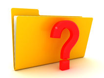 Folder and question mark Stock Images