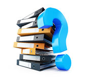 Folder question mark Royalty Free Stock Photography